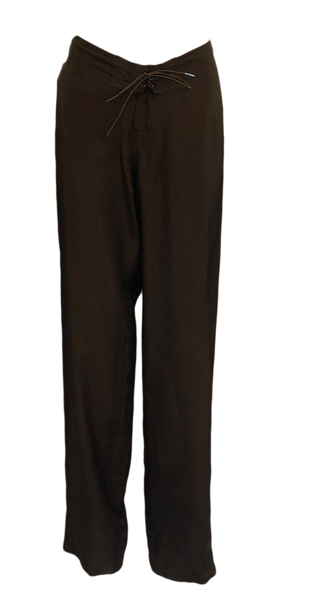 Tom Ford for Gucci Brown Drawstring Pants, Front