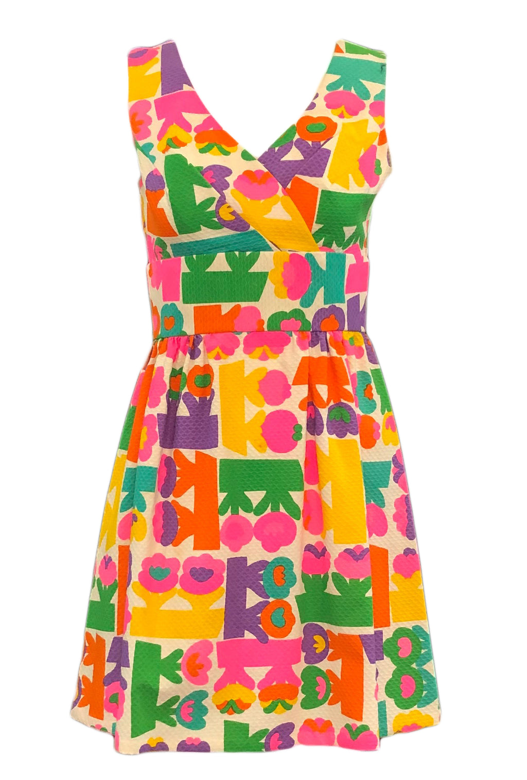 60's Rainbow Floral Mini Dress