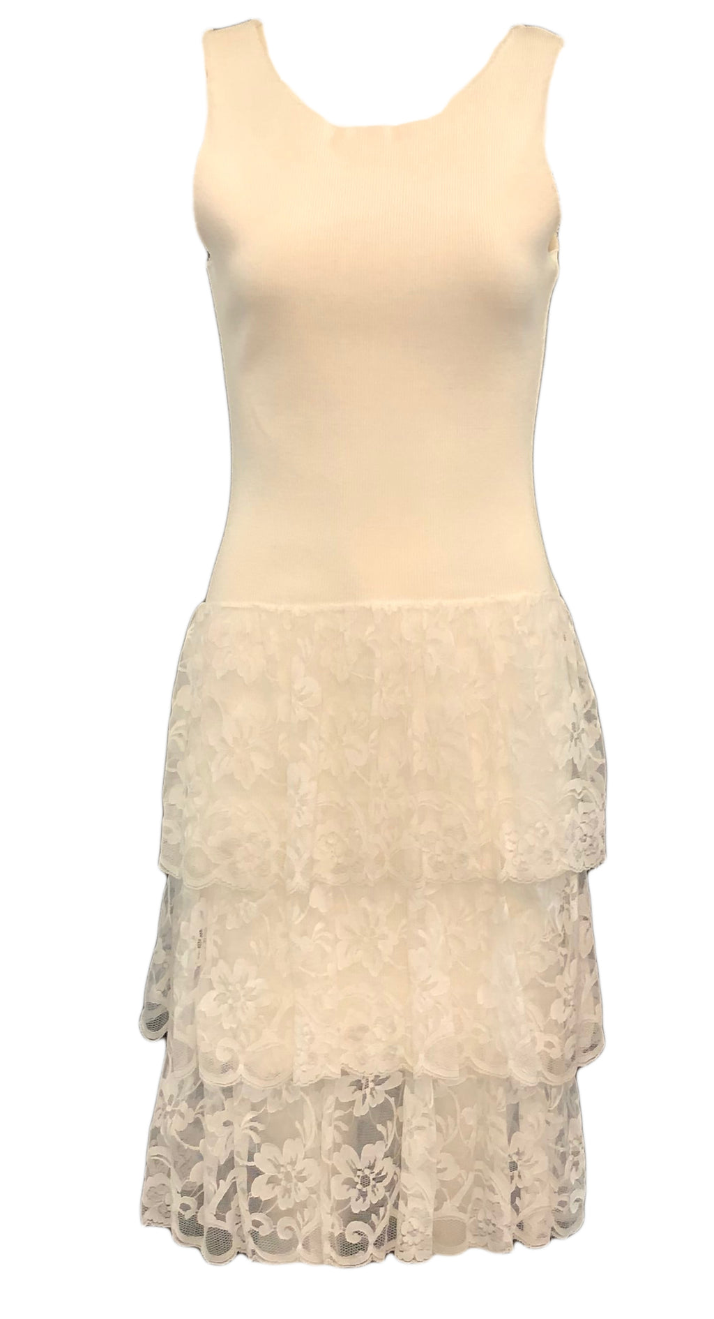 80's Patrick Kelly Lace Tank Dress