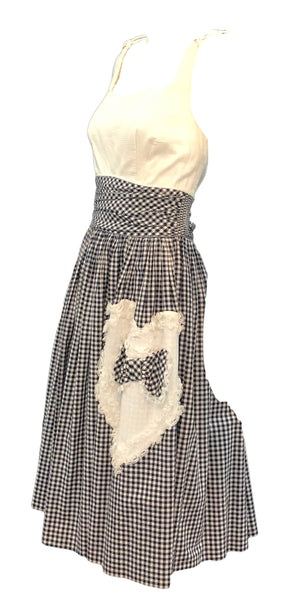 50's Black & White Gingham Dress