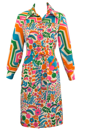 70's Lanvin Psychedelic Dress