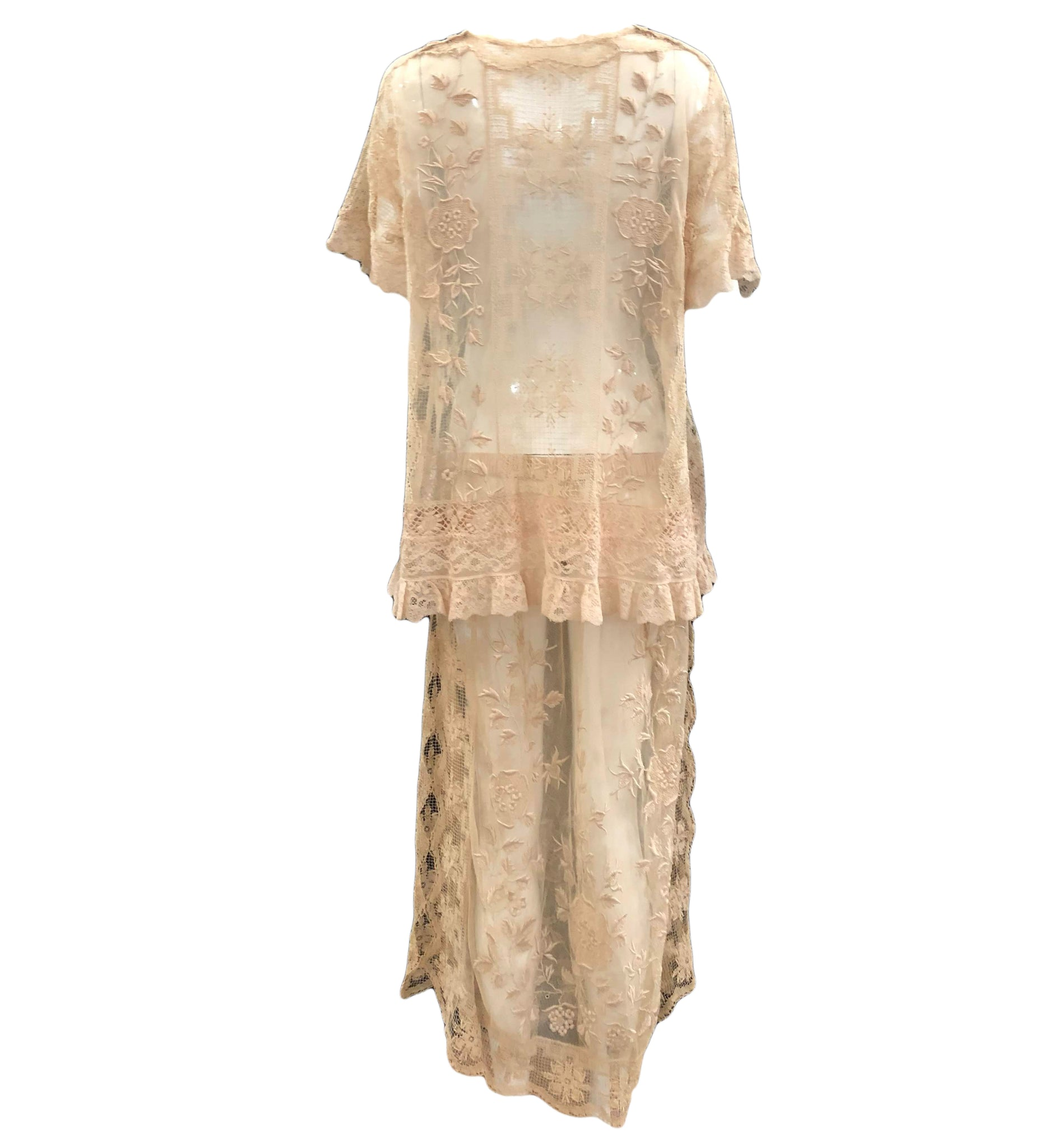 1920s Two Piece Lace and Crochet Ensemble  2 of 7