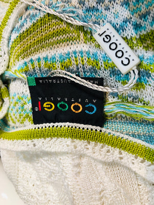 90s Coogi White and Green Knit Dress 99 AND UNDER LABEL 5 of 5