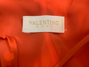 Valentino Orange Silk Mini Dress LABEL 4 of 4