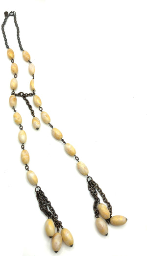 Giorgio Armani 90s Resin Beaded Neckpiece 1 of 4