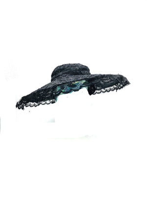 Phenomenal Don Marshall Wide Brim Black Lace Picture Hat 3 of 6