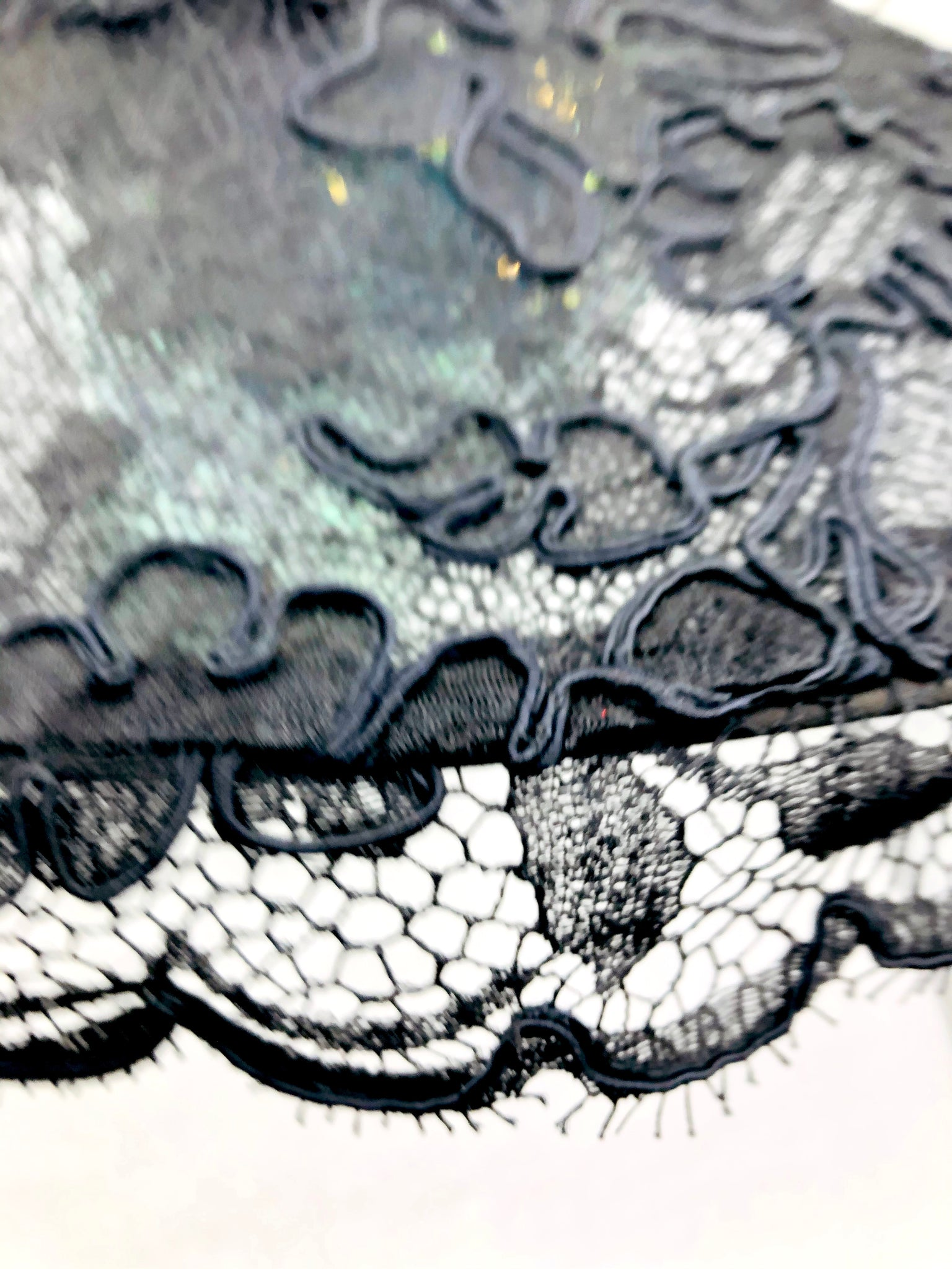 Phenomenal Don Marshall Wide Brim Black Lace Picture Hat 4 of 6