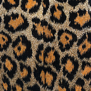 Outrageous 1960 Leopard Print Lame Gown Detail B 5 of 5