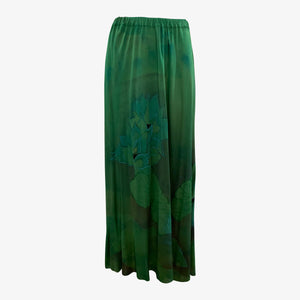 Holly's Harp 70s 3 Piece Green Jersey Hand Painted Ensemble  SKIRT 6 of 8