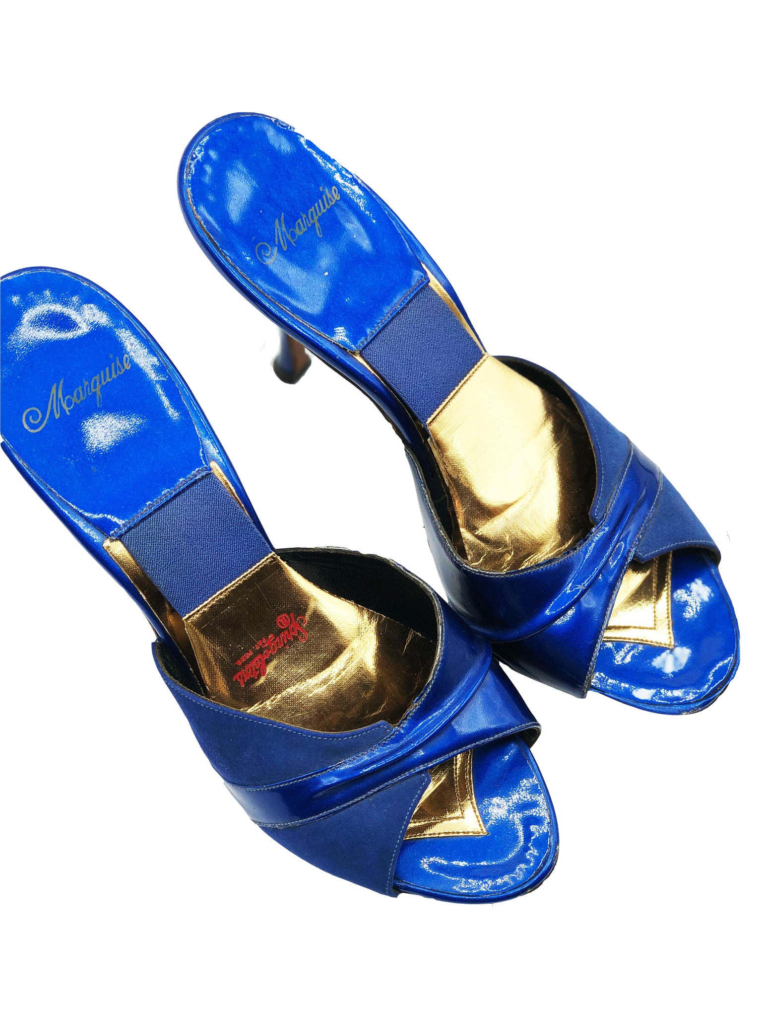 50s Electric Blue Patent Springalator Shoes