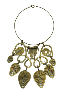 60s Free form Brass Necklace 1 of 2