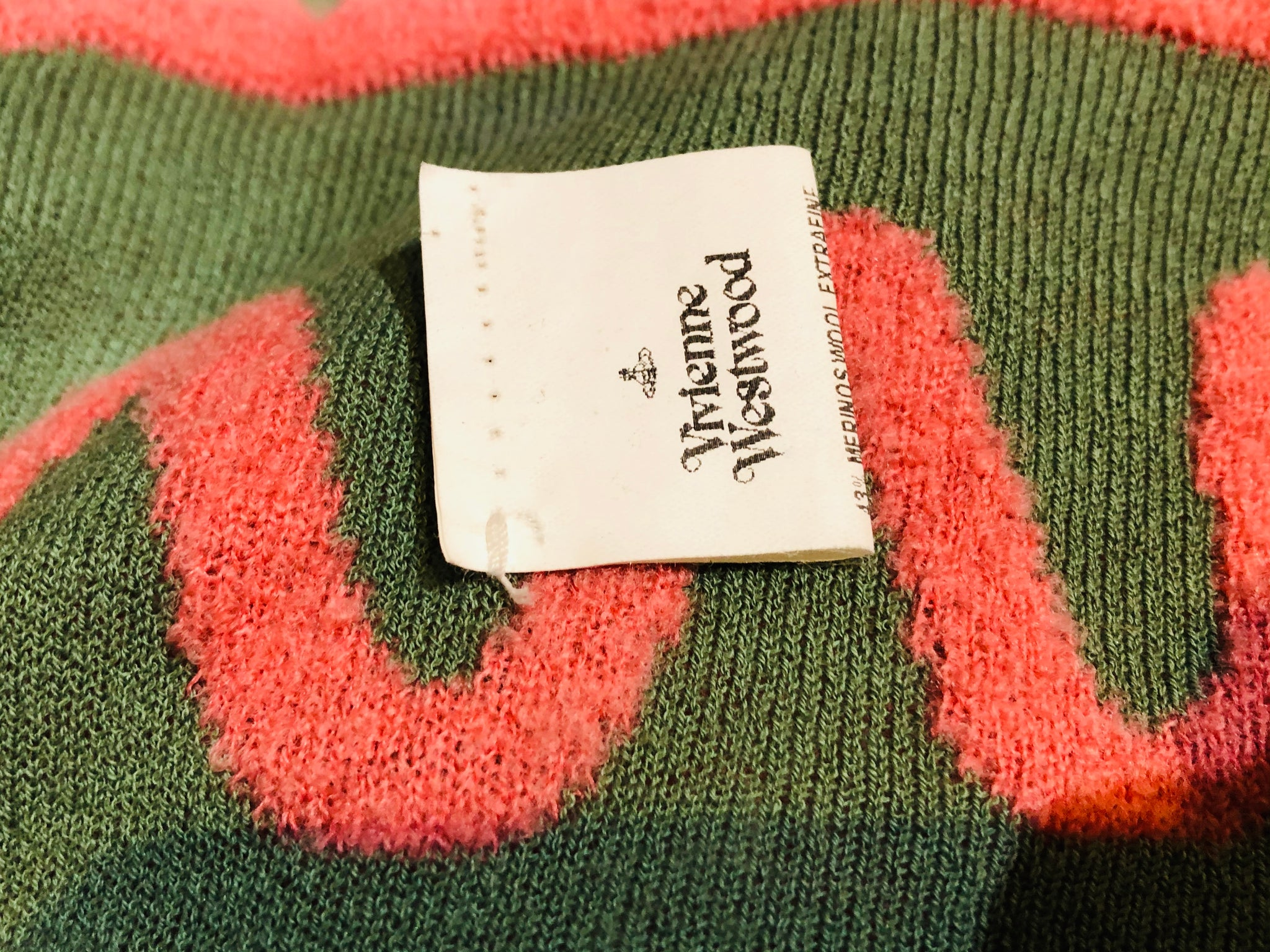 Vivienne Westwood 90s Cropped Knit Wrap Sweater LABEL 5 of 5