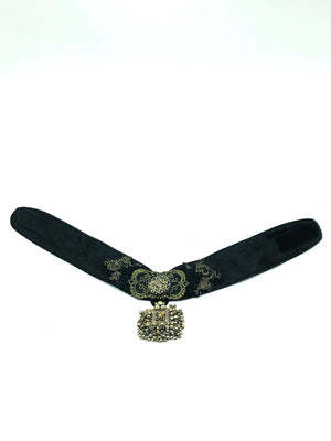 Contemporary Lanivich Black Brocade Choker 3 of 4