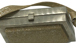 50s Evening Bag  Chrome Frame with Silver Lurex Detail A 2 of 3