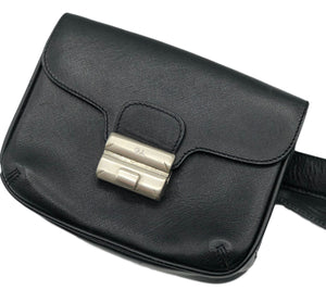 Armani 2000s Black Leather  Belt Bag Detail 3 of 3