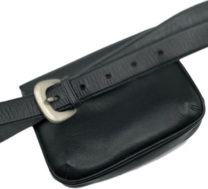 Armani 2000s Black Leather  Belt Bag Back 2 of 3