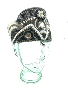 20s Authentic Handmade Beaded  Burlesque Headpiece 1 of 5