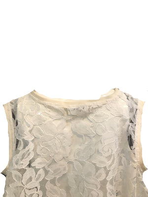 Patrick Kelly 90s White Lace Trapeze Top  DETAIL 4 of 6