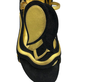 Prada 2008 Black and Gold Fairy Sandals 4 of 5