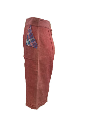 50s Red Chambray Pedal Pushers  SIDE 2 of 5