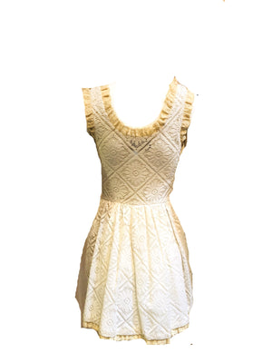 Sant Angelo 60s Crochet Lace Mini Dress BACK 2 of 5