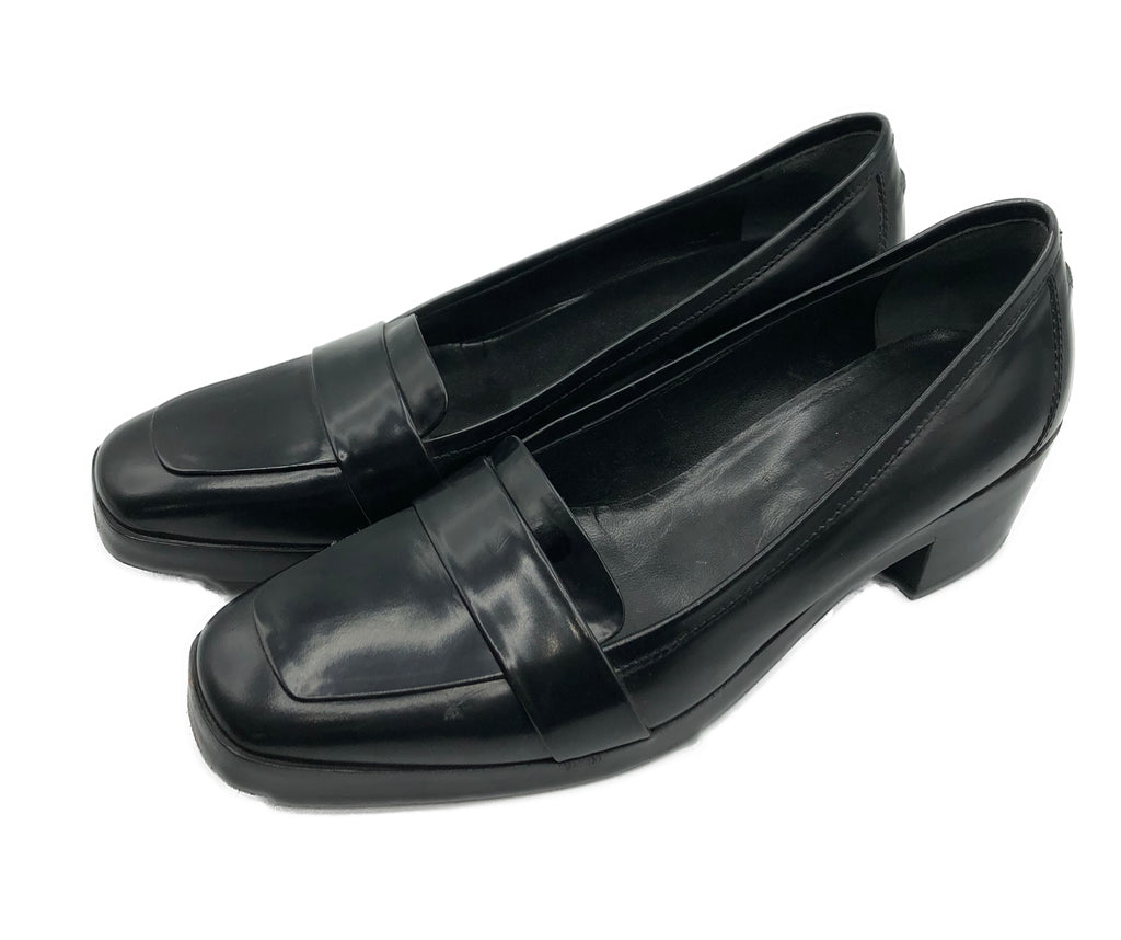 New Balenciaga Black Leather Loafer Side 1 of 5