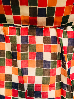 90s redux 50s Check Summer Dress  DETAIL 4 of 5