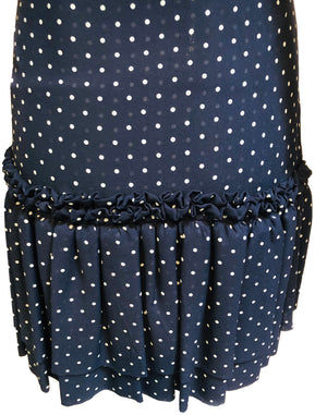 Galanos Attribution Dress Blue Silk Polka Dot Mini DETAIL 4 of 4