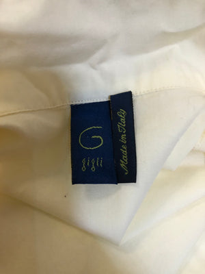 Romeo Gigli Iconic Ivory Cotton Wrap Blouse LABEL 5 of 5