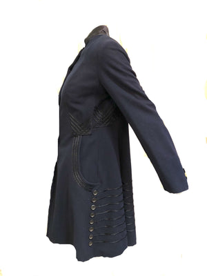 Edwardian Blue  Embroidered Walking Jacket SIDE 2 of 7