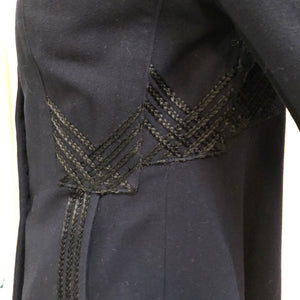 Edwardian Blue  Embroidered Walking Jacket DETAIL 4 of 7
