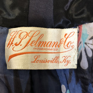 Edwardian Blue  Embroidered Walking Jacket LABEL 7 of 7