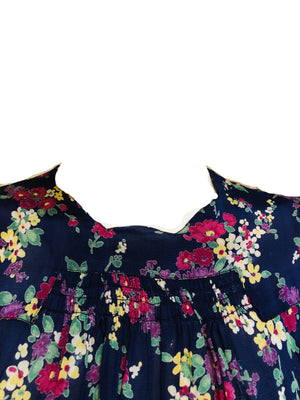30s Dress Blue Floral Day DETAIL 4 of 5