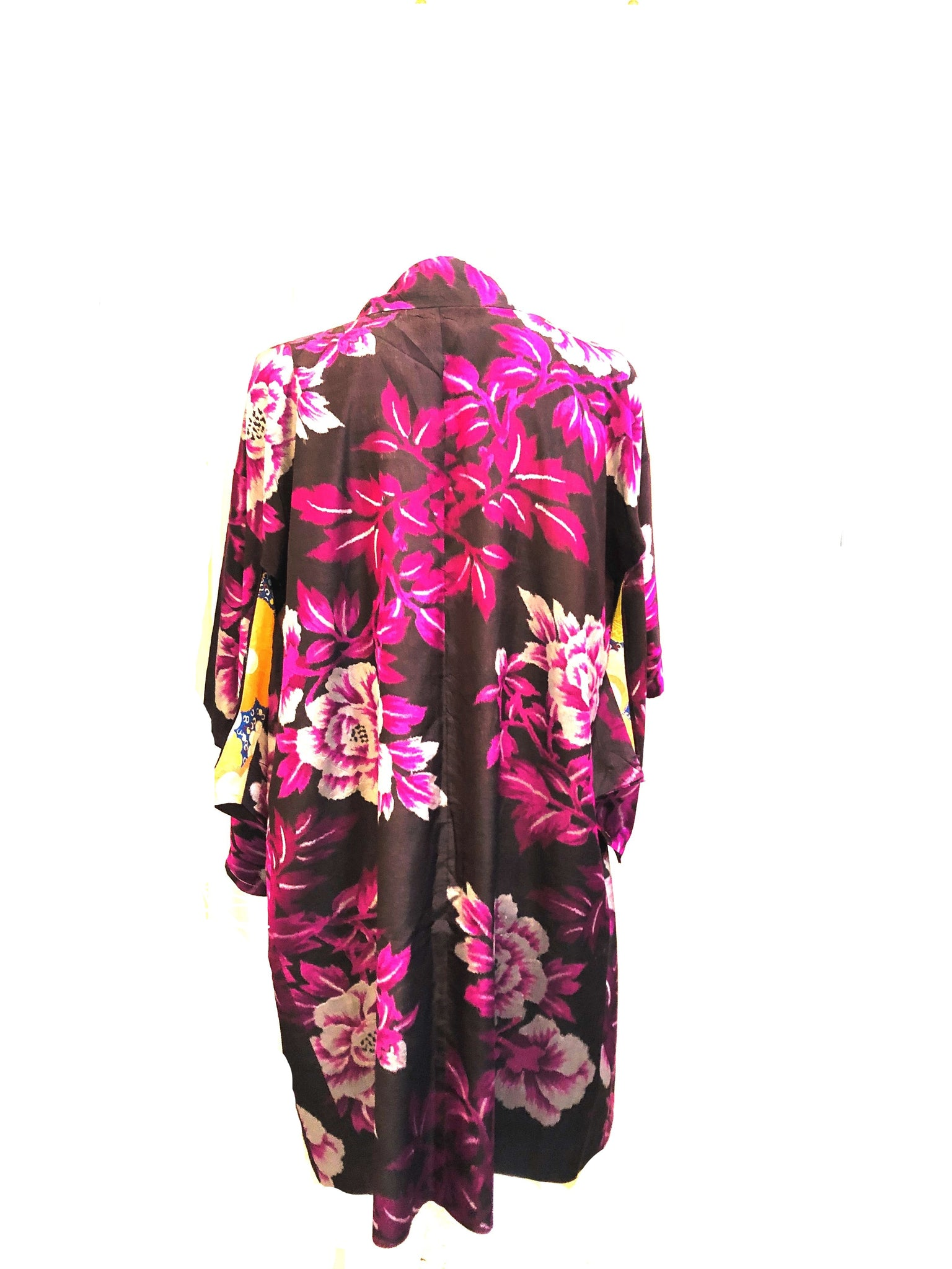 Purple Japanese Haori Floral Short Kimono BACK 2 of 3