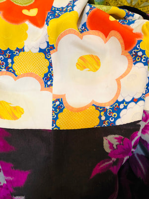 Purple Japanese Haori Floral Short Kimono DETAIL 3 of 3