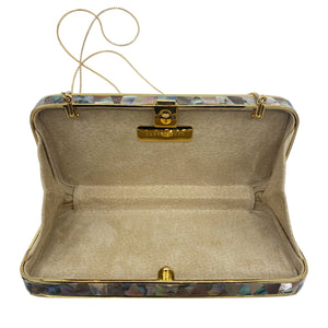 Darby Scott Abalone Clutch Evening Purse INTERIOR  5 of 5