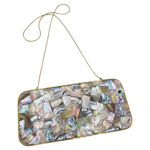 Darby Scott Abalone Clutch Evening Purse FRONT 1 of 5