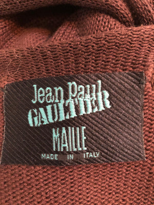 Gaultier Sexy Brown Knit Body Con  Full Length Tunic  LABEL 6 of 6