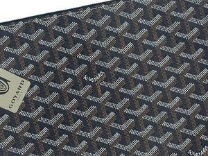 Goyard Senat Zip Pouch Coated Canvas Black and Brown DETAIL 2 of 4
