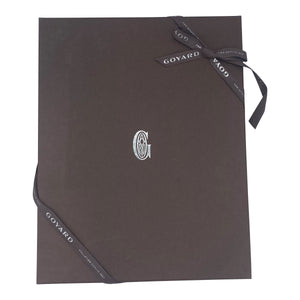 Goyard Senat Zip Pouch Coated Canvas Black and Brown PRESENTATION BOX 4 of 4