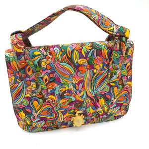 60s Purse Mini Psychedelic Rainbow  FRONT 1 of 6