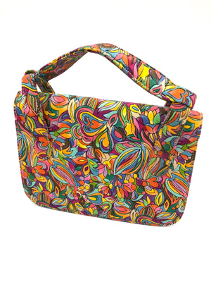 60s Purse Mini Psychedelic Rainbow  BACK 3 of 6