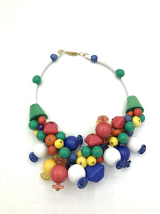 80s Necklace Rainbow Collar FRONT 1 of 4