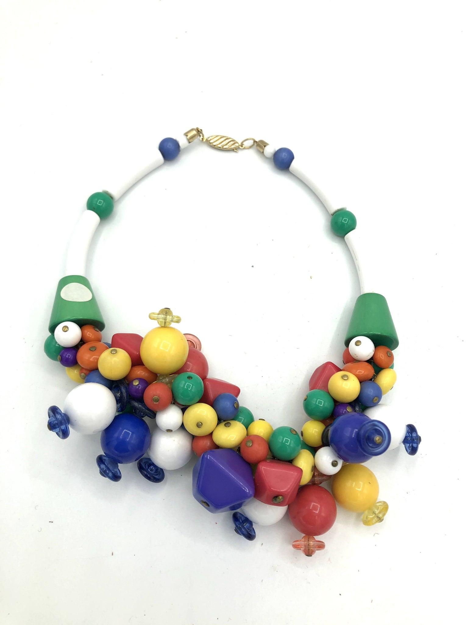 80s Necklace Rainbow Collar BACK 2 of 4