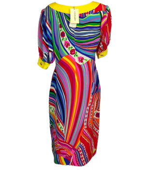 Leonard Multi-Color Silk Dress 2 of 7