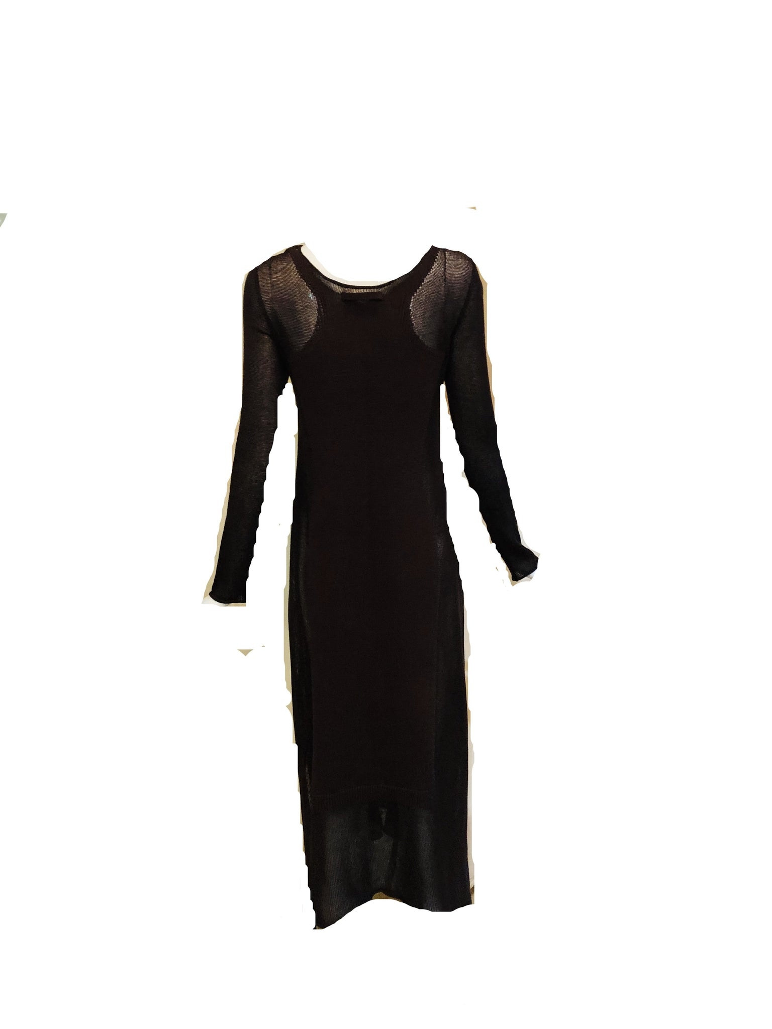 Gaultier Sexy Brown Knit Body Con  Full Length Tunic  BACK 2 of 6