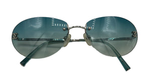 Chanel 2000s Rimless Logo Sunglasses FRONT 1 of 5
