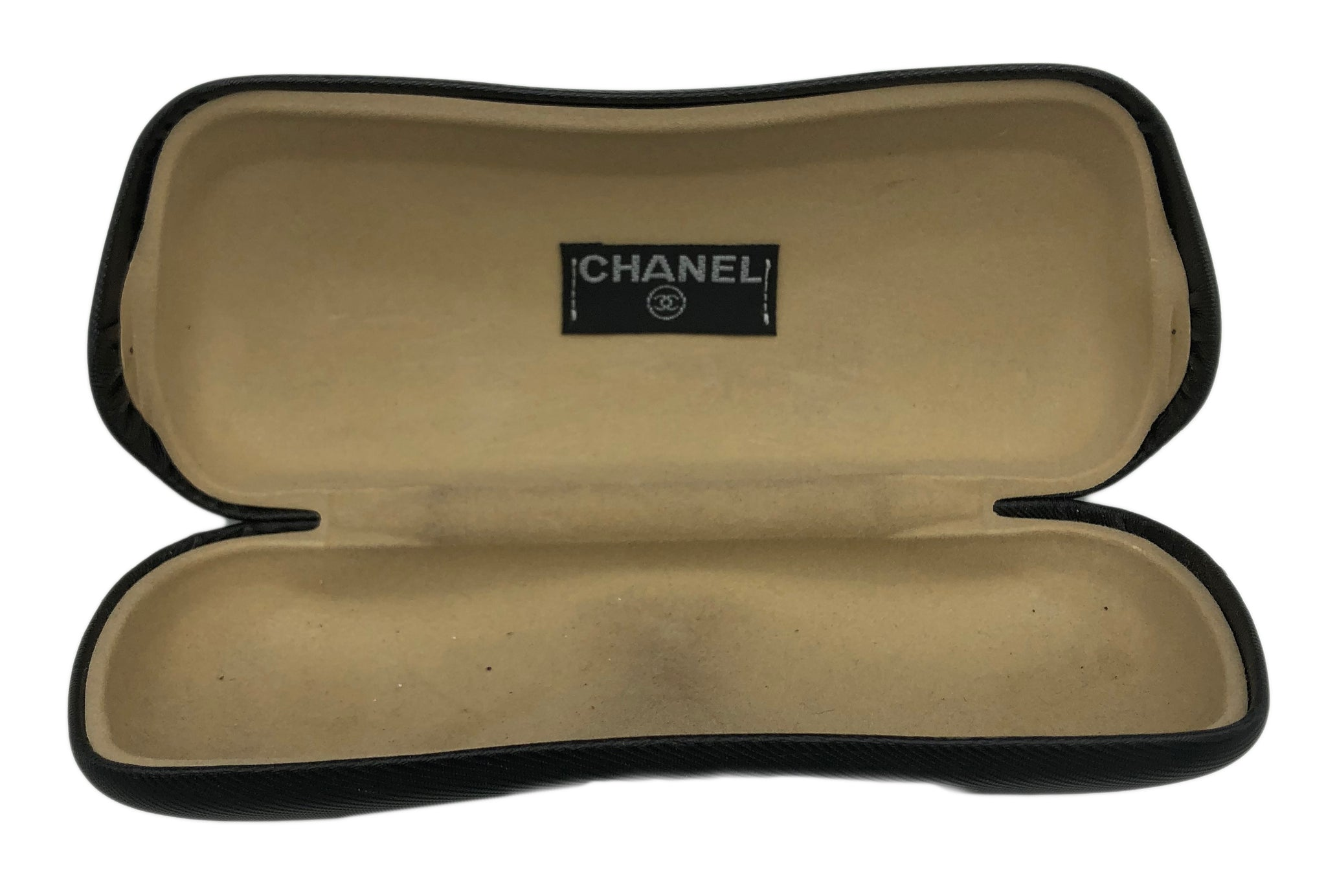 Chanel 2000s Rimless Logo Sunglasses OPEN CASE 4 of 5