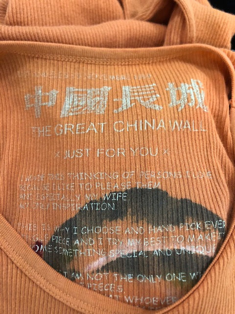 The Great China Wall early 2000s Pumpkin Tank DressLABEL 5 of 5