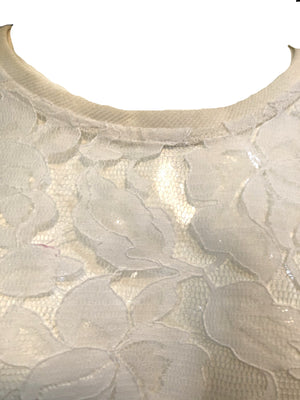 Patrick Kelly 90s White Lace Trapeze Top  DETAIL 3 of 6